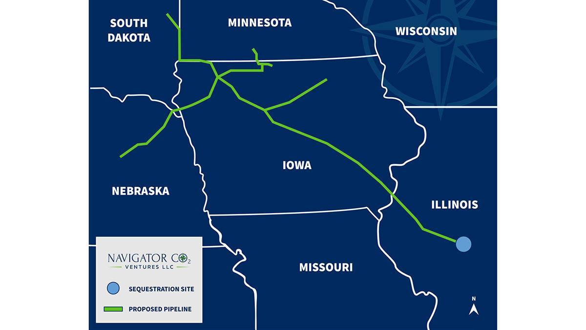 carbon capture pipeline map
