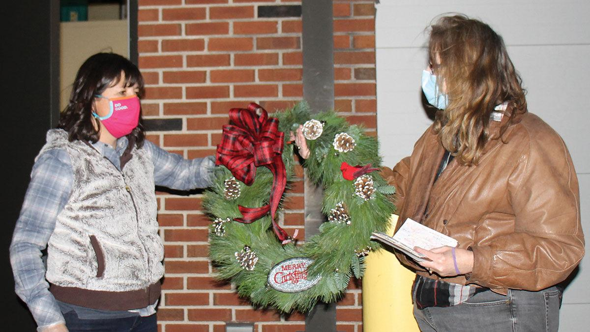 holiday wreath made by Illinois State University