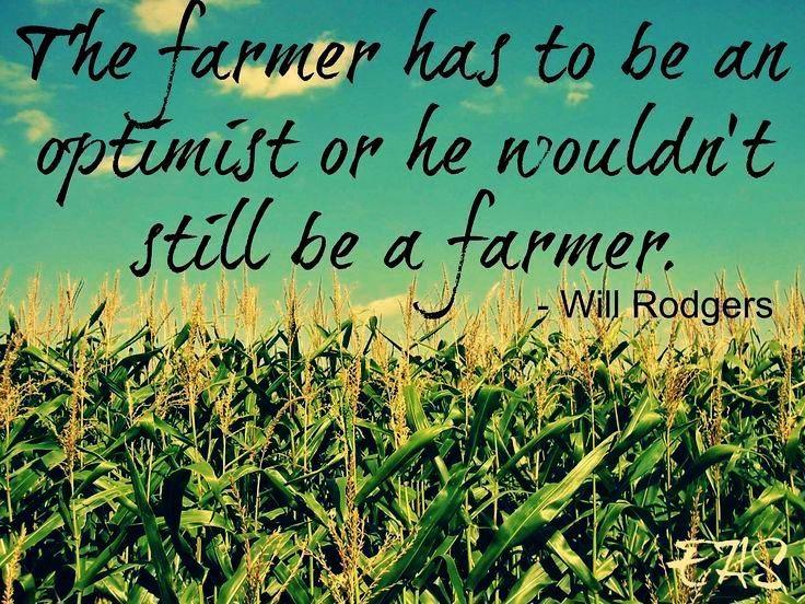 Be an optimist farmer