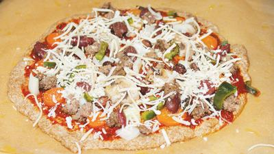 pizza using homemade whole wheat crust