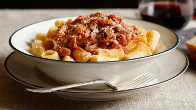 Slow-Cooker Lamb Ragu with Rigatoni