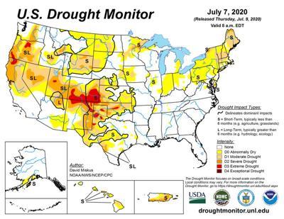 U.S. Drought Monitor July 7, 2020