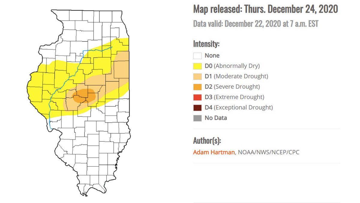 Illinois Drought monitor map