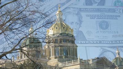 IA state capital with money