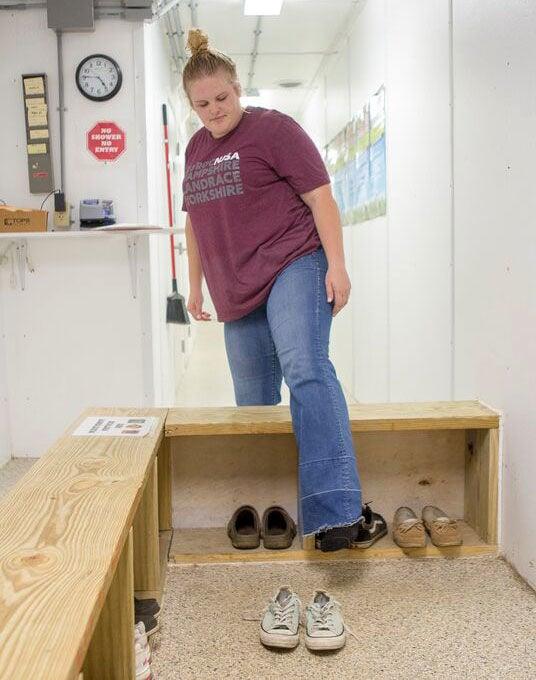 biosecurity shoe bench