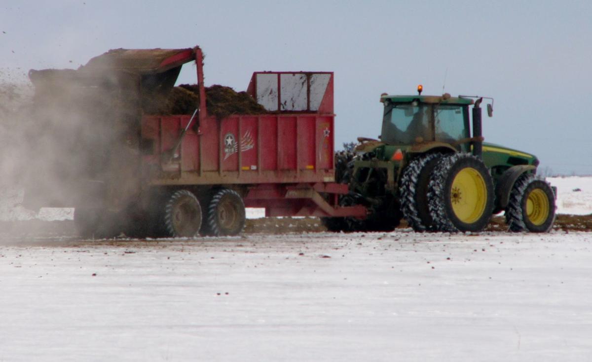 Spreading manure unglamorous chore