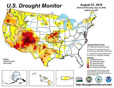 Drought areas shrink in Kansas, Nebraska | Crop | agupdate.com