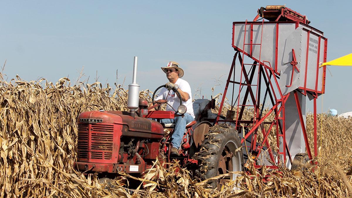 McCormick-Deering one-row corn picker