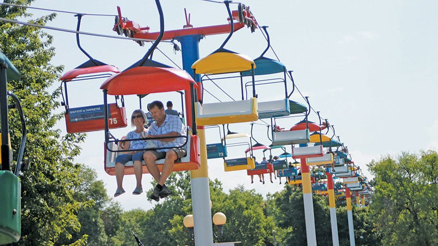 The skyride is always popular at the fair