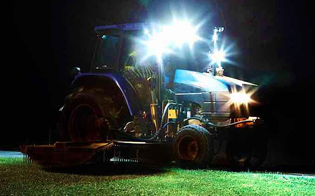 Tractor has LED lights