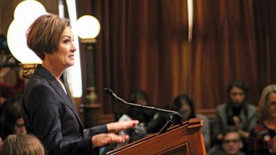 Gov. Kim Reynolds addressed lawmakers