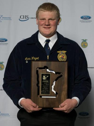 Lucas Wingert the 2018 Minnesota FFA Star in Agribusiness