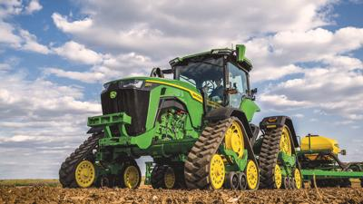 John Deere fixed-frame, four-track tractor, the new 8RX.