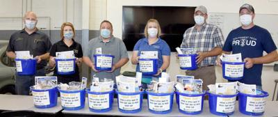 Thank you buckets for farmers at Southwest Tech