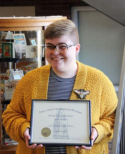 Tekamah library accredited by state