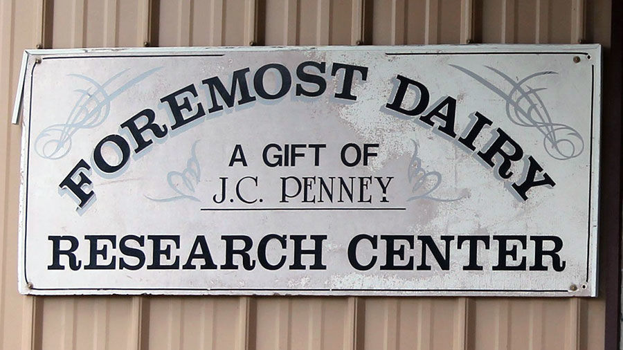Foremost Dairy Research Center sign