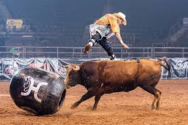 Freestyle bullfighting at Kaw Valley Rodeo