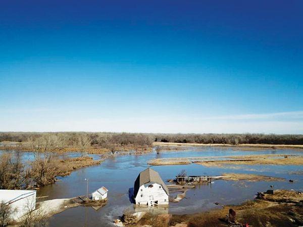 Beck Angus Genoa Nebraska 2019 flooding barn destroyed