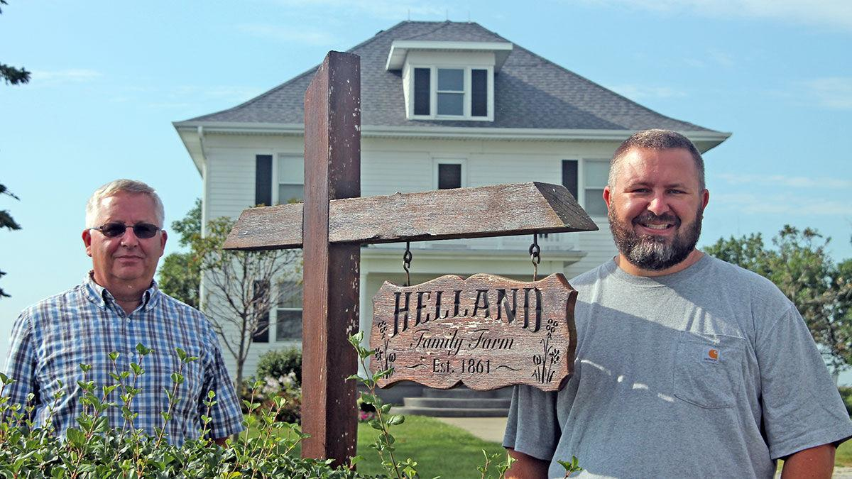 Father-and-son Michael and Nick Helland