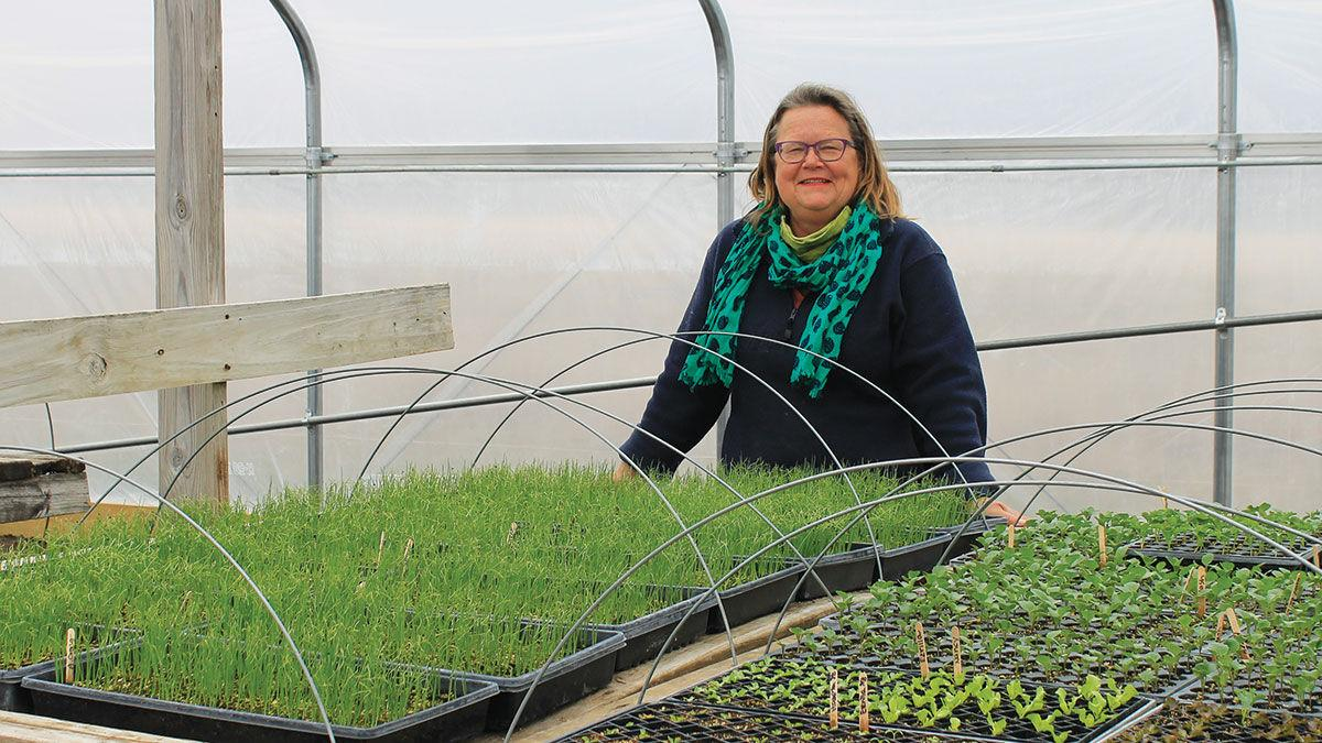 Laura Krouse, a CSA farmer in Mt. Vernon, Iowa