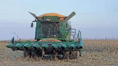 Illinois corn combine