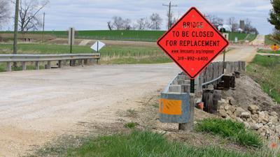Road work is planned in rural Linn County Iowa