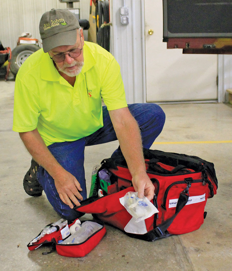 Bryon Helt first aid bag