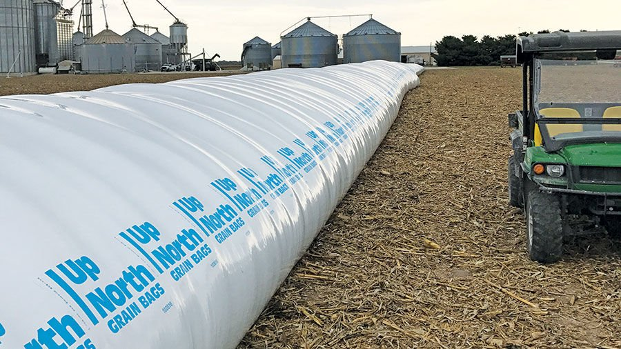 Grain Storage Bags Offer A Temporary