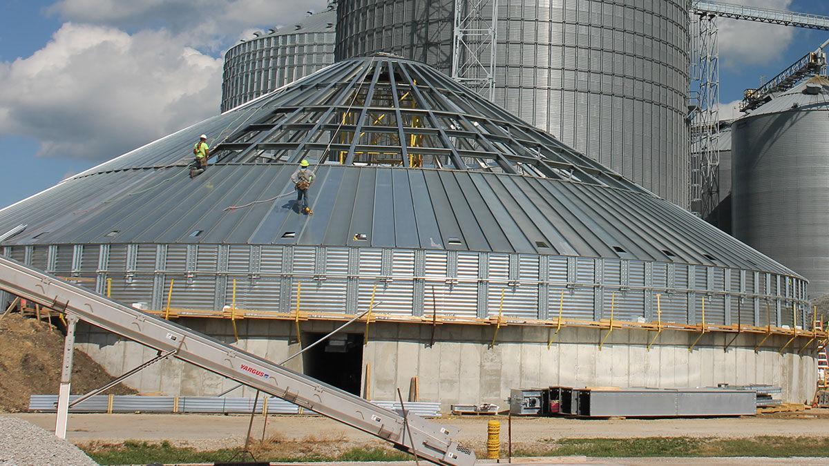 new grain bin at Stanford Grain Company