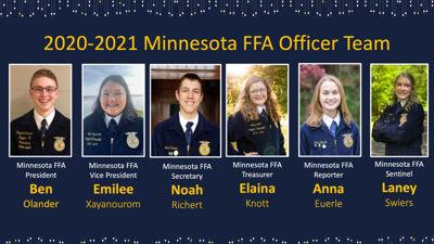 Minnesota FFA State Officer Team 2020/21