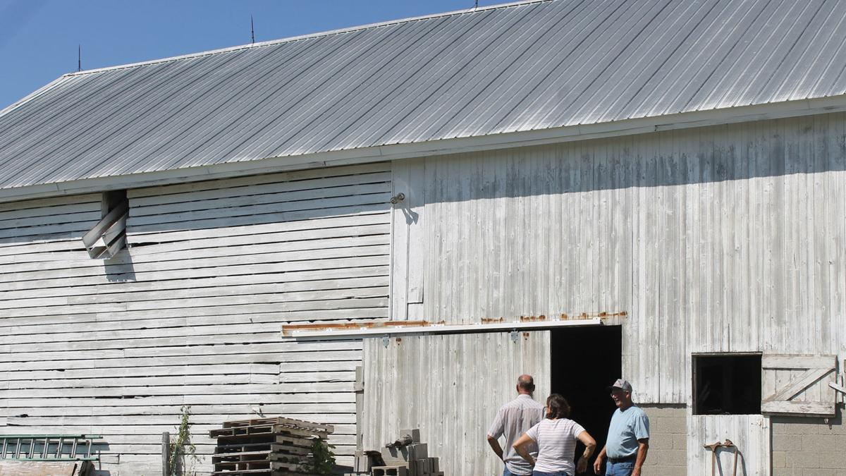 Richard Slown historic half corn-crib, half barn