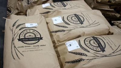 Janie's Mill flour bag