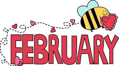 February calendar graphic