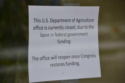 Offices closed due to government shutdown