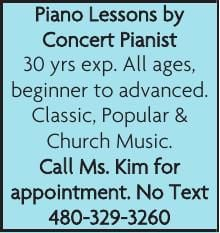 Piano Lessons by