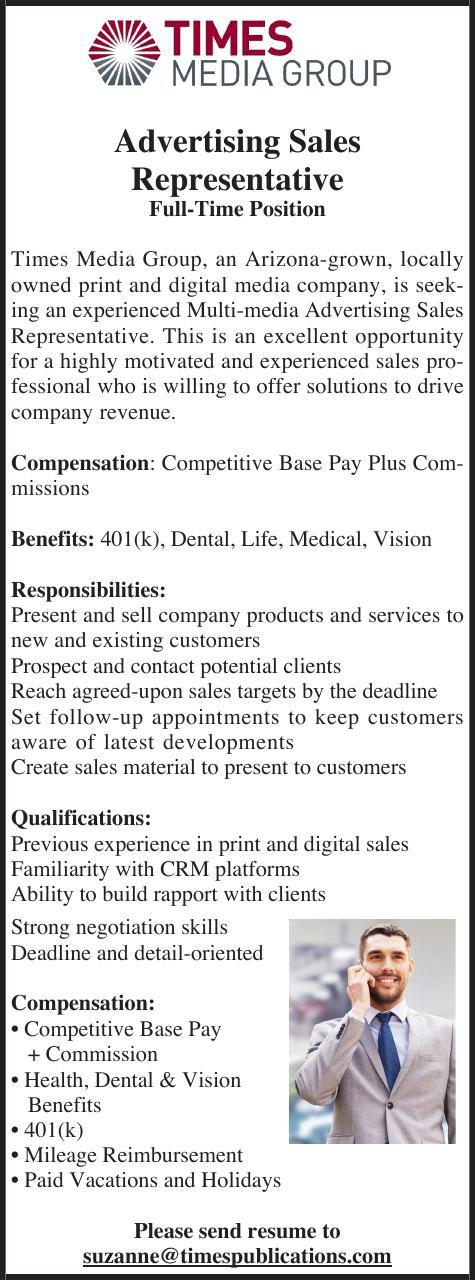 Advertising Sales Representative Needed