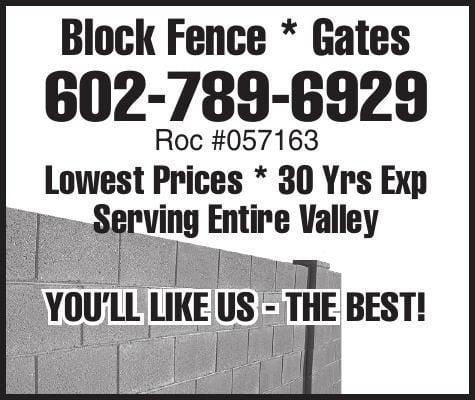 Block Fence * Gates