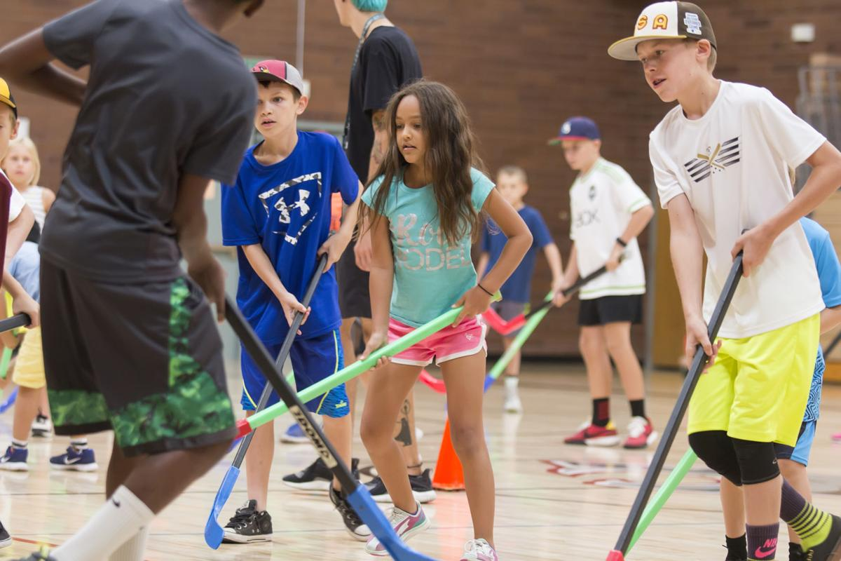 Hockey was the sport du jour when the AFN dropped in recently at Centennial Middle School, where the Kyrene School District's new summer sports camp is held.