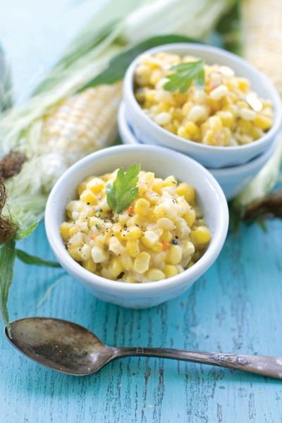 Healthy creamed corn
