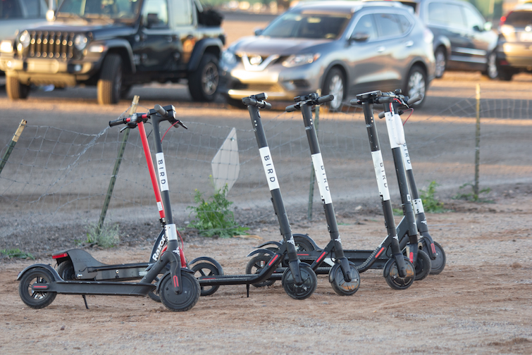 Electric rental scooters