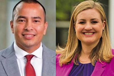 Former Democratic Phoenix City Council members Daniel Valenzuela and Kate Gallego