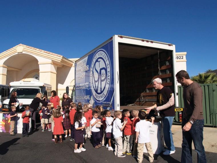 Primrose collects for St. Vincent de Paul
