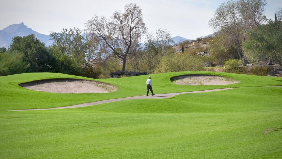 Back in November, Club West Golf Course sported a lush green after over-seeding.
