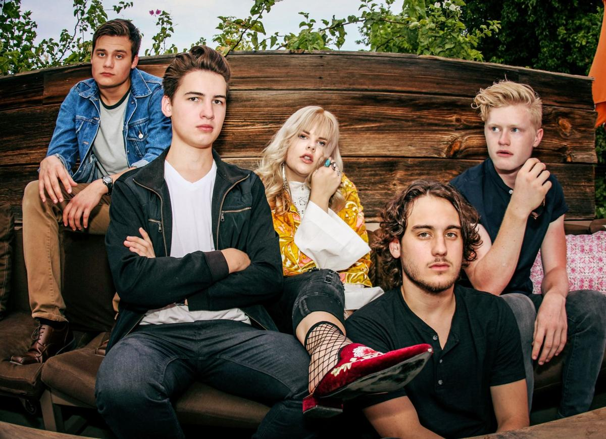 Vintage Wednesday – from left, keyboardist/bassist Christopher Marchant, drummer Josh Jones, vocalist Taylor Sackson, and guitarists Logan Dubek and Alex Dorsten – play the Mesa Music Festival in November and the Marquee Theatre in December.