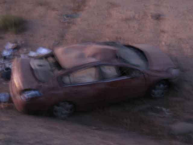 Four-car pile-up on Pecos closes street