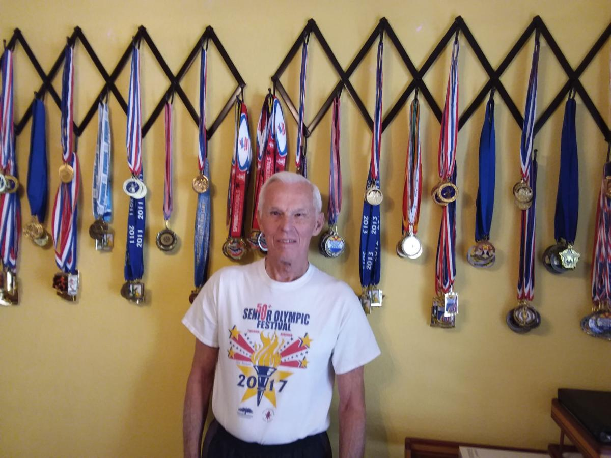 Senior Olympian AL Worth has won many medals in his Senior Olympics competitions.