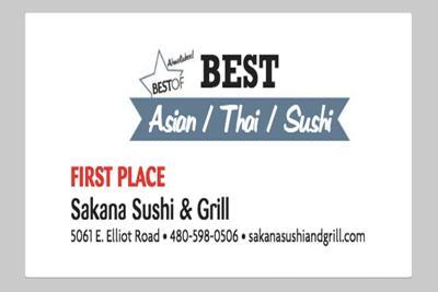 Sakana Sushi & Grill 5061 E. Elliot Road