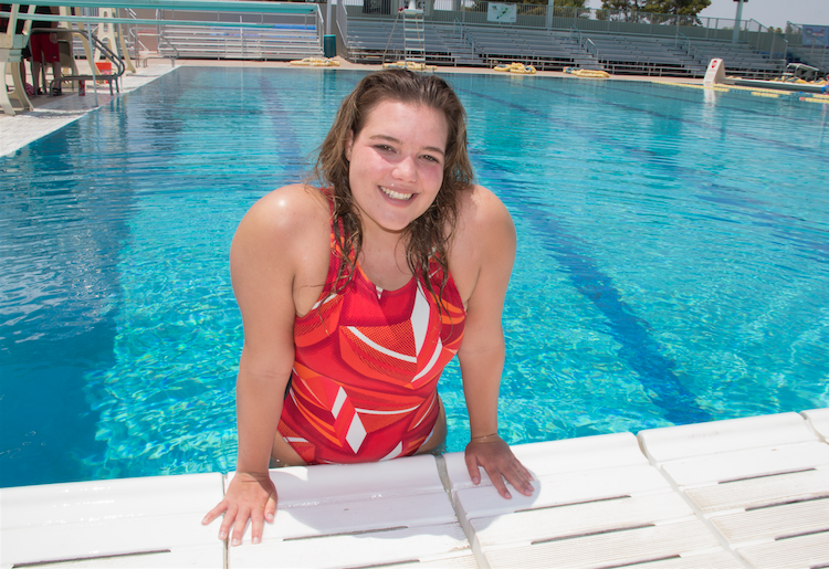 Samantha Camblin of Ahwatukee is breaking the glass ceiling of water polo as a member of the Mesa Water Polo club.