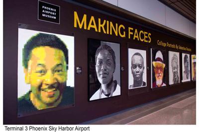 Terminal 3 at Phoenix Sky Harbor Airport Sebastiao Pereira's portraits