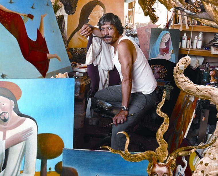 Armando Adrian-Lopez in his New Mexico studio